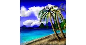 Drawing of Palm tree by Leah