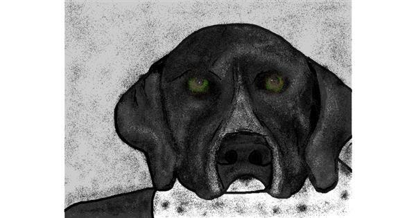 Dog drawing by Malone