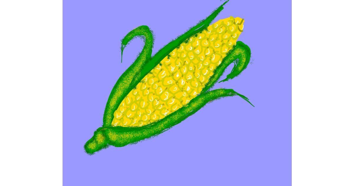 Drawing of Corn by Cherri