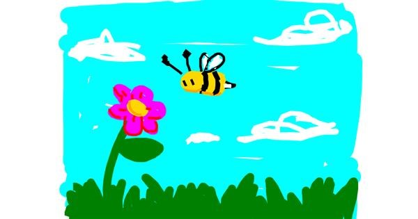 Bee drawing by Mr Banana