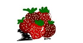 Strawberry drawing by Jessica