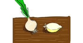 Onion drawing by Lolo