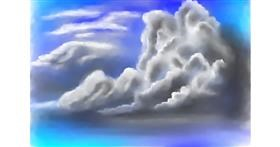 Cloud drawing by Jan