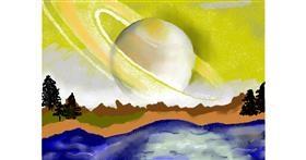 Saturn drawing by SAM AKA MARGARET 🙄