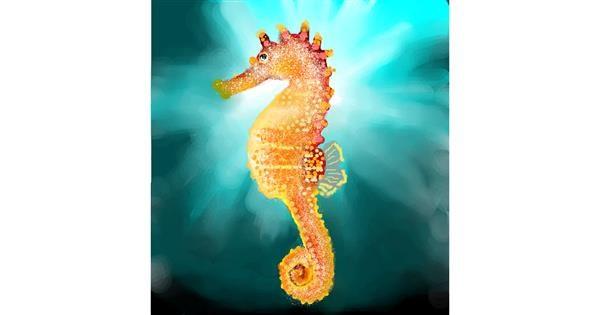 Seahorse drawing by Sirak Fish