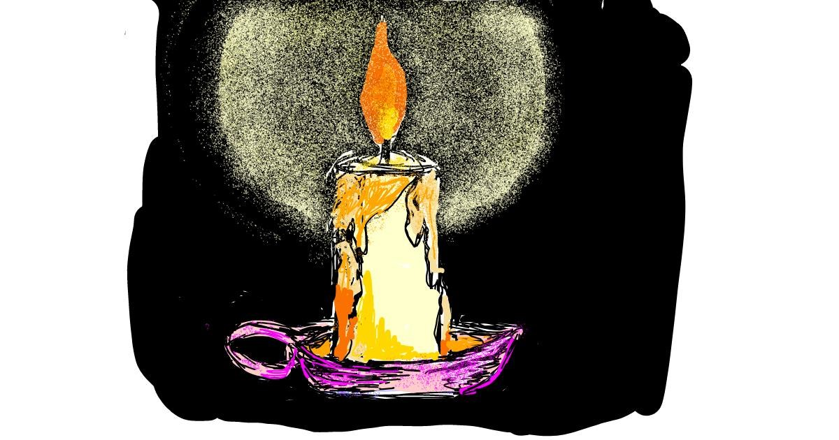 Candle drawing by Lsk