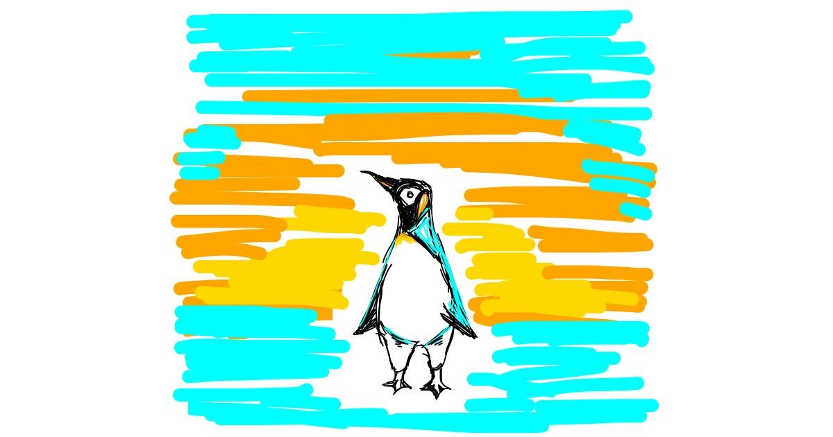Penguin drawing by Blooby
