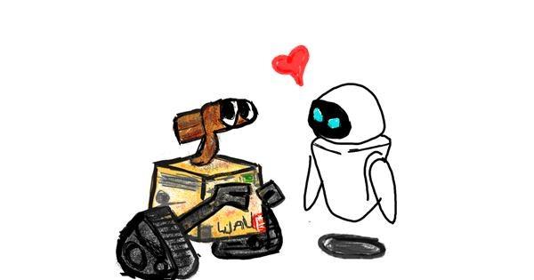 Robot drawing by Kat