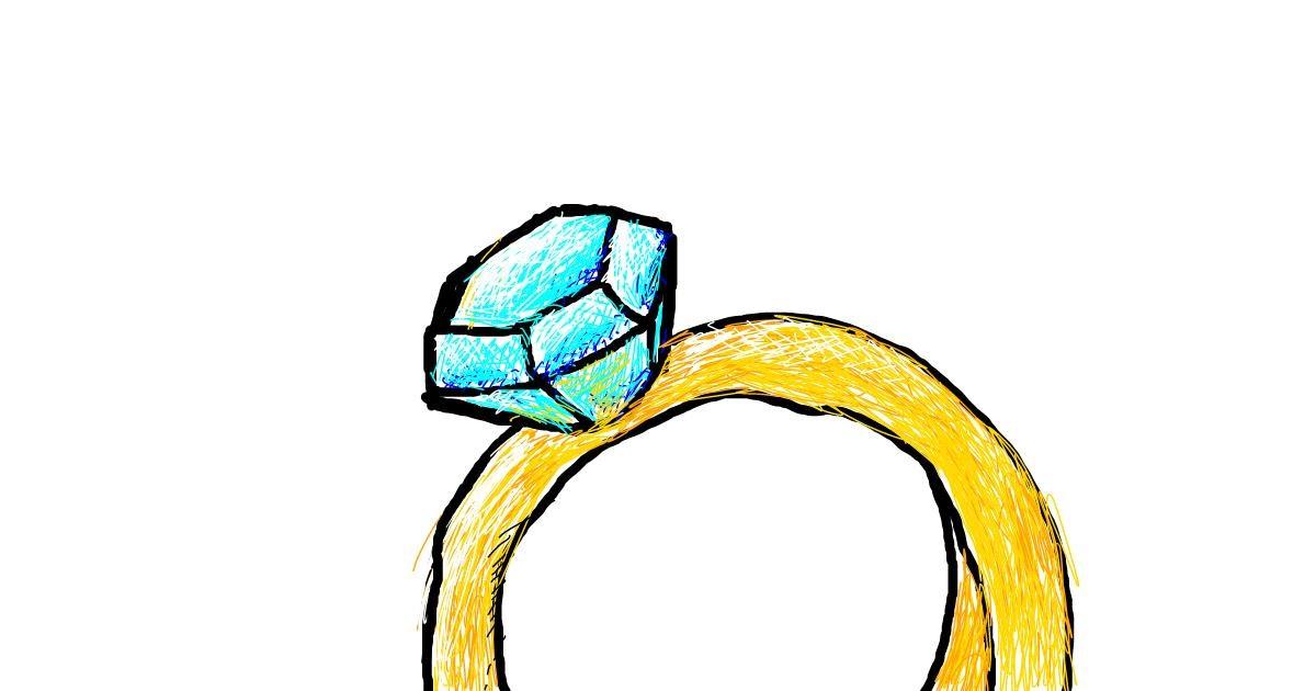 Diamond drawing by Orange Louse
