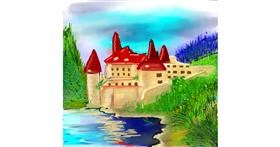 Castle drawing by Bro