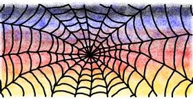 Drawing of Spider web by uwu