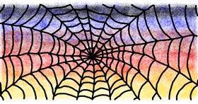 Spider web drawing by uwu