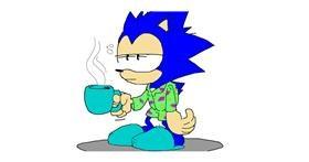 Drawing of Sonic the hedgehog by jule