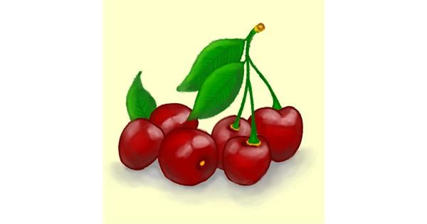 Cherry drawing by DivyaJose