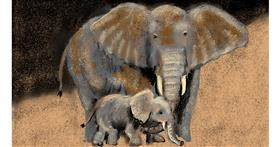 Drawing of Elephant by SAM AKA MARGARET 🙄