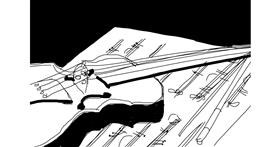 Violin drawing by TyraMusa