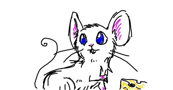 Mouse drawing by Ang