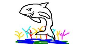 Shark drawing by MPK