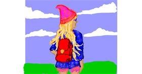 Backpack drawing by Cherri