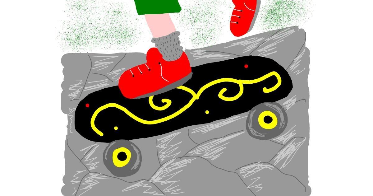 Skateboard drawing by Zerous 👩🎤