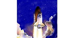 Rocket drawing by Rose rocket