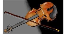 Drawing of Violin by SAM AKA MARGARET 🙄