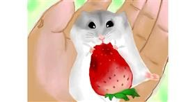 Hamster drawing by Zi
