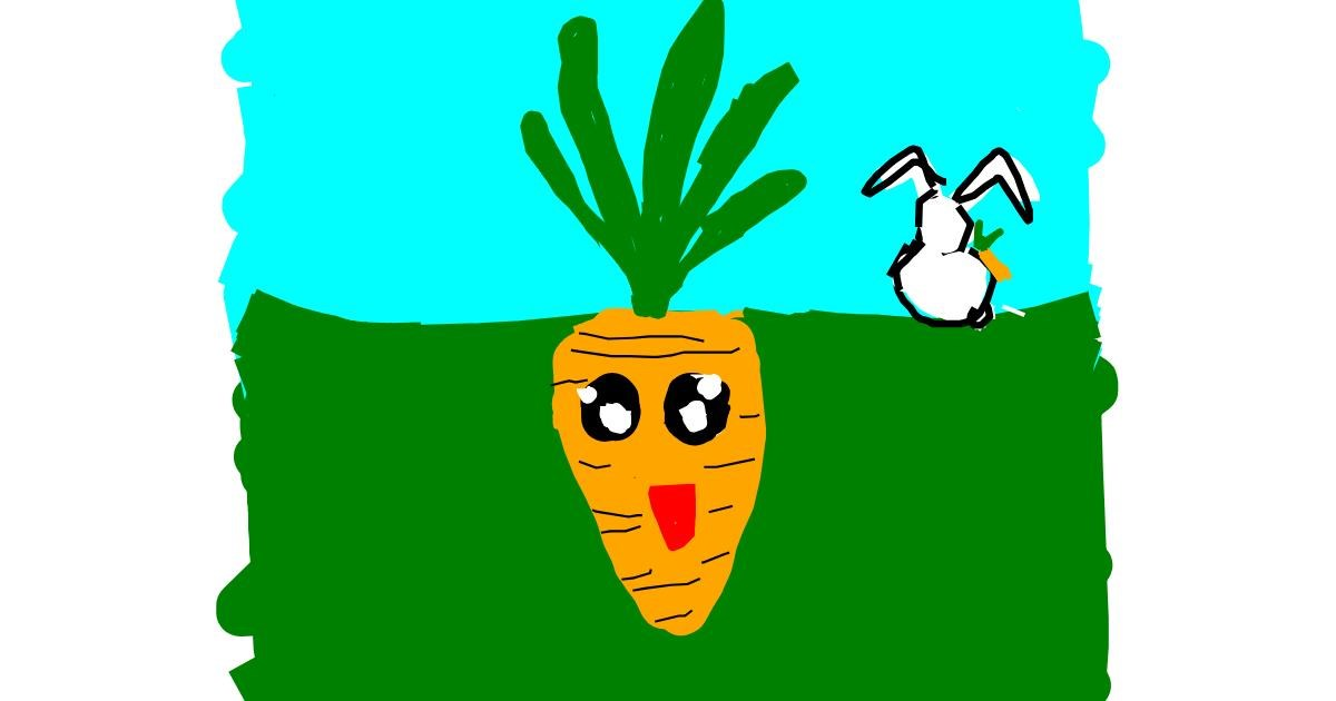 Carrot drawing by Kamie