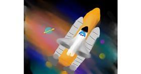 Rocket drawing by Beagle❤️❤️