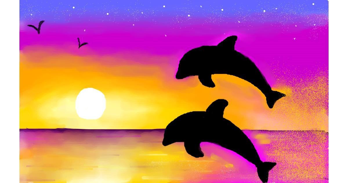 Dolphin drawing by Percabeth Everlark
