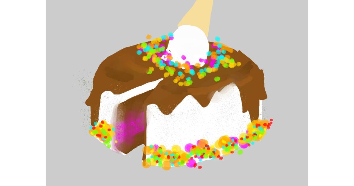 Cake drawing by Watch ScarletFire Fox ch