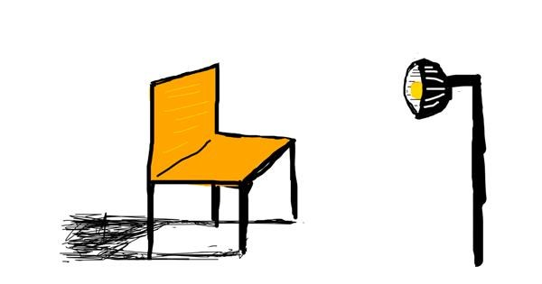 Chair drawing by Thomas