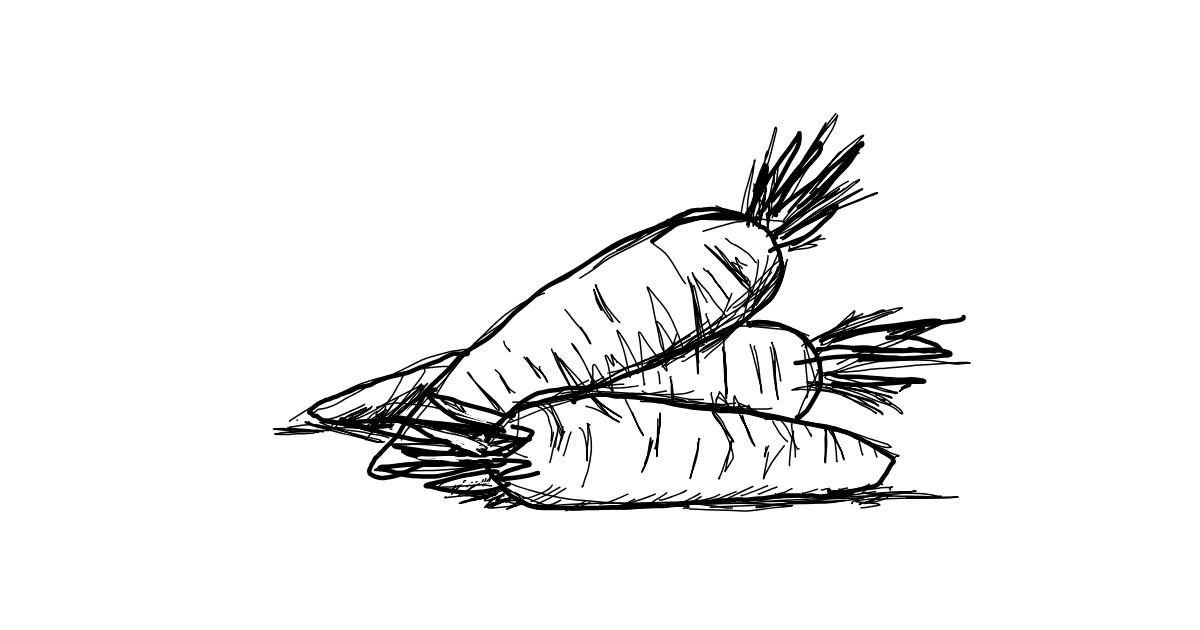 Carrot drawing by smiley