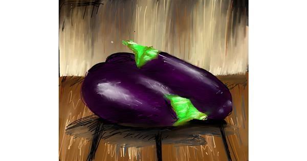 Eggplant drawing by Muni