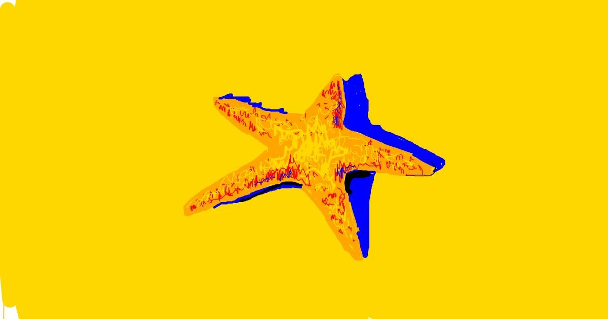 Starfish drawing by nova