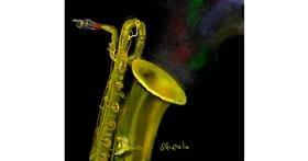 Saxophone drawing by Kai 🐾