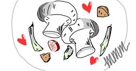 Drawing of Mushroom by 𝓟𝓮𝓰𝓰𝔂_52