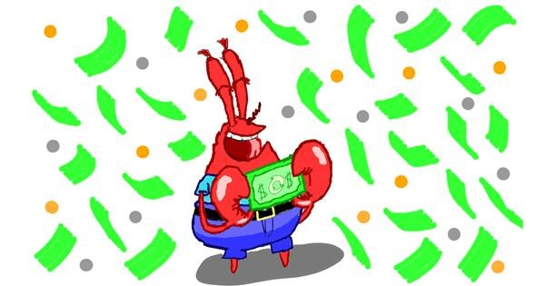 Mr. Krabs (spongebob) drawing by Sam