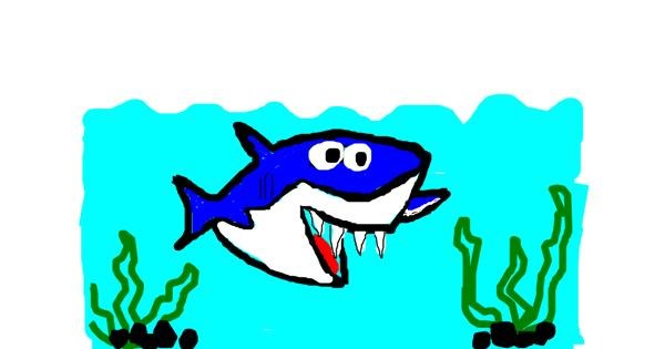 Shark drawing by zaffyy