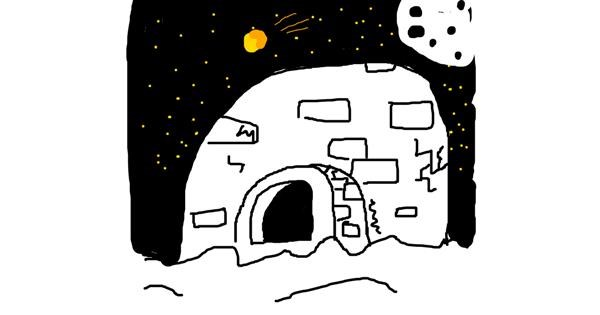 Igloo drawing by Rusty