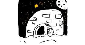 Igloo drawing by Rusty