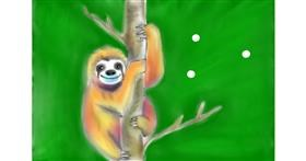 Drawing of Sloth by Wizard
