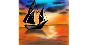 Sailboat drawing by Dreamer