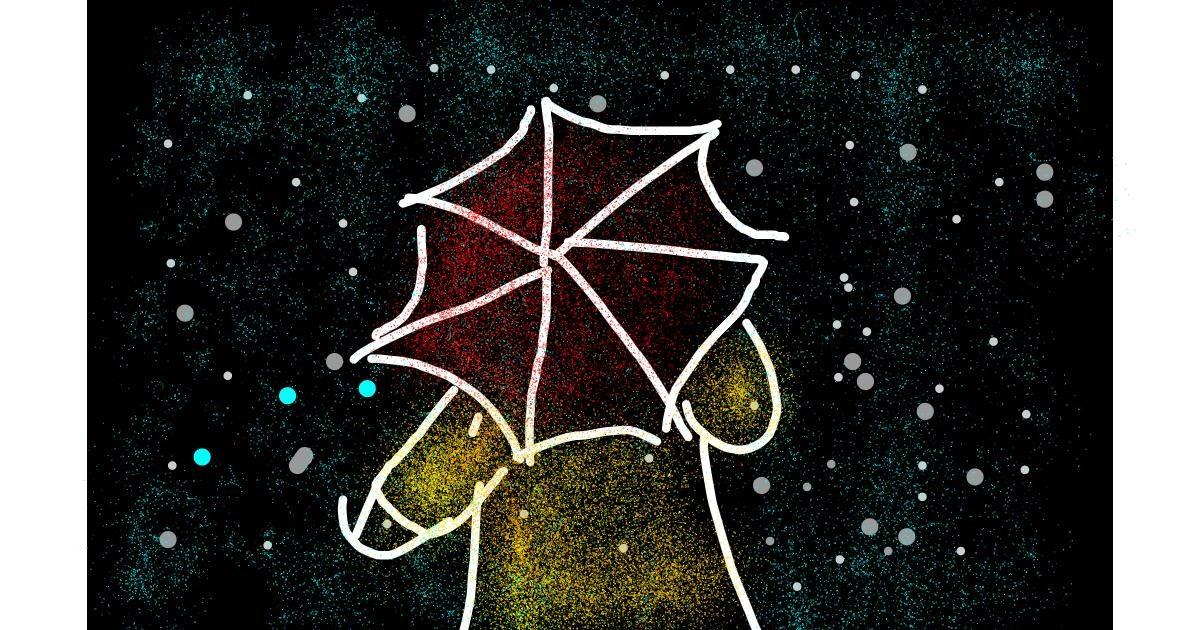 Drawing of Umbrella by Kuroi-Senpai