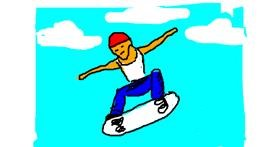 Skateboard drawing by Anonymous