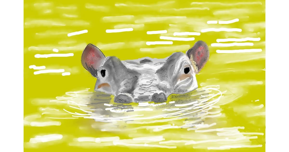 Hippo drawing by GJP