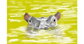Drawing of Hippo by GJP