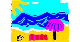 Beach drawing by LoriaDaBest