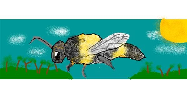 Bee drawing by AnYAY