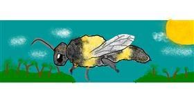 Bee drawing by AnYAY